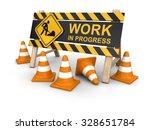 work in progress sign and... | Shutterstock . vector #328651784