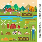 agricultural production... | Shutterstock .eps vector #328654823