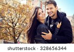 autumn portrait of attractive... | Shutterstock . vector #328656344
