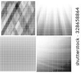 Vector Halftone Patterns. Set...