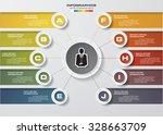 design clean number banners... | Shutterstock .eps vector #328663709