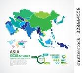 asia map | Shutterstock .eps vector #328664558