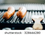 grill sousage. selective focus | Shutterstock . vector #328666280
