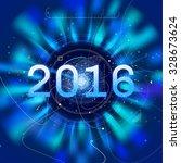 2016 high tech radar vector... | Shutterstock .eps vector #328673624