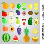 colorful fruit illustration... | Shutterstock .eps vector #328674836