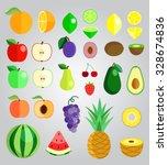 colorful fruit illustration... | Shutterstock .eps vector #328674836