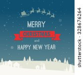 christmas background with rural ...   Shutterstock .eps vector #328676264