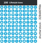 lifestyle 100 icons universal... | Shutterstock . vector #328680986