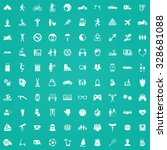 lifestyle 100 icons universal... | Shutterstock . vector #328681088