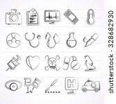medical tools and health care... | Shutterstock .eps vector #328682930