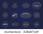 sun burst vintage shapes... | Shutterstock .eps vector #328687169