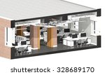 cross section of the office...   Shutterstock . vector #328689170