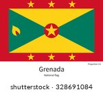 national flag of grenada with... | Shutterstock .eps vector #328691084