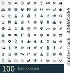 solution 100 icons universal... | Shutterstock . vector #328695389