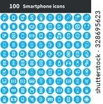 smartphone 100 icons universal... | Shutterstock . vector #328695623
