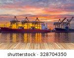 container cargo freight ship... | Shutterstock . vector #328704350
