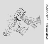 hands with hammer  | Shutterstock .eps vector #328708040
