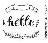 calligraphic lettering of... | Shutterstock .eps vector #328717919