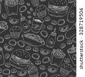 vector seamless pattern. hand... | Shutterstock .eps vector #328719506