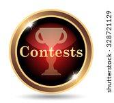 Contests Icon. Internet Button...