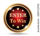 Enter To Win Icon. Internet...