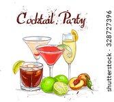 the unforgettables cocktail set ... | Shutterstock .eps vector #328727396