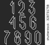numerical symbols line monogram ... | Shutterstock .eps vector #328731758
