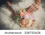 wedding pastel bouquet closeup... | Shutterstock . vector #328732628