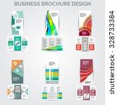 tri fold brochure design vector ... | Shutterstock .eps vector #328733384