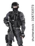 spec ops police officer swat in ... | Shutterstock . vector #328733573