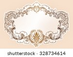 vector luxury frame with border ... | Shutterstock .eps vector #328734614
