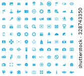 photography 100 icons universal ... | Shutterstock . vector #328743350