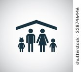 family insurance icon  on white ... | Shutterstock . vector #328746446