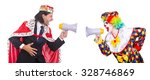 clown and king with... | Shutterstock . vector #328746869