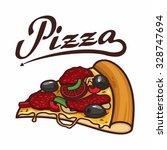 pizza slice | Shutterstock .eps vector #328747694
