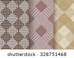set of 3 abstract patterns.... | Shutterstock .eps vector #328751468