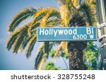 Small photo of Hollywood boulevard street sign