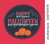 colorful happy halloween set.... | Shutterstock .eps vector #328755470