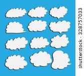 set of cloud vector illustrator | Shutterstock .eps vector #328757033