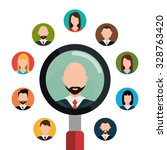 find person and job interview... | Shutterstock .eps vector #328763420