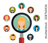 find person and job interview... | Shutterstock .eps vector #328763426
