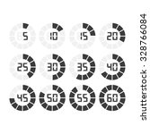 digital timer icon vector... | Shutterstock .eps vector #328766084