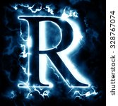 lightning letter r   Shutterstock . vector #328767074