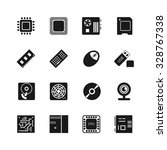 Computer Chips Vector Icons Se...