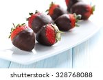 Fresh Strawberries Dipped In...