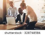 group of entrepreneurs working... | Shutterstock . vector #328768586