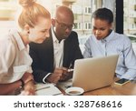 black and white business people ... | Shutterstock . vector #328768616