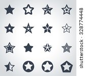 vector black stars icon set. | Shutterstock .eps vector #328774448