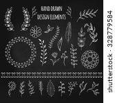 set of hand drawn doodle design ... | Shutterstock .eps vector #328779584