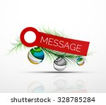 modern sticker with christmas... | Shutterstock .eps vector #328785284